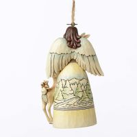 Jim Shore Heartwood Creek White Woodland Angel Hanging Christmas Tree Ornament 4051540
